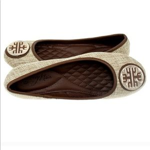Tory Klein Shoes - Women's Beige Brown Ballet Flat shoes size 6.5
